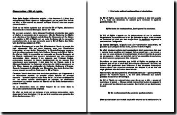 La déclaration des droits de la GrandeBretagne: le Bill of Rights