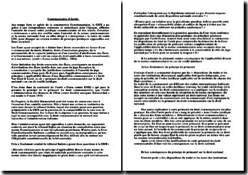 L'arrêt « Administration des finances de l'État contre société anonyme Simmenthal » le 9 mars 1978