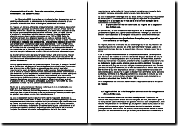La prééminence de la compétence universelle d'une juridiction nationale face à une loi étrangère concernant l'amnistie
