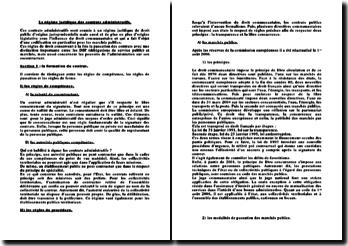 Le régime juridique des contrats administratifs: formation et exécution