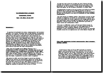 La primauté des normes communautaires sur les normes nationales: arrêt Jacques Vabre, 24 mai 1975