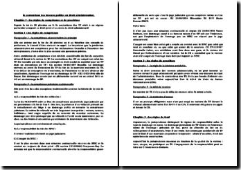 Les règles de compétence et de procédure concernant le contentieux des travaux publics en droit administratif