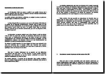 Commentaire d'arrêt du 26.01.2010