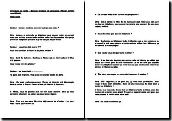 techniques de vente : dialogue stratégie de persuasion (Alcatel ot3605 rouge)