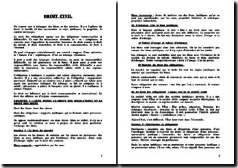 Droit civil: droit des obligations, les actes juridiques et le contrat