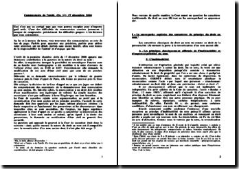 Corrigé du commentaire de l'arrêt de la première chambre civile du 17 décembre 2008