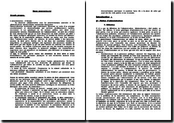 Cours de droit administratif: sources, structures, police administrative, service public
