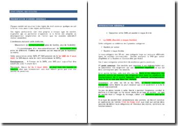 Présentation d'ordre général : Droit spécial des sociétés