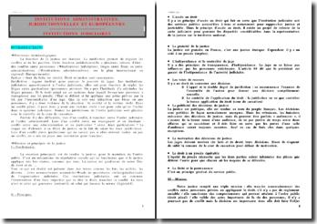 Les institutions judiciaires - une fonction étatisée pour la gestion des conflits et litiges
