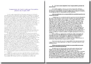 Commentaire de l'arrêt rendu par l'Assemblée plénière du 29 juin 2007