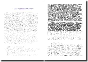 Le juge et le principe de l'intangibilité du contrat