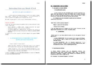 Introduction au droit civil - objectif et subjectif