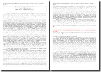 Transmission des obligations : cession de créance, cession de dette et cession de contrat