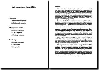 Etude de la rhétorique: Lire aux cabinets, Henry Miller