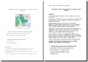 Les relations entre l'Union Européenne et les Pays du Golfe persique