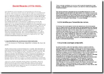 Biographie et analyse de la théorie de David Ricardo