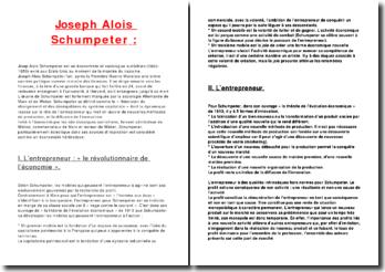 Joseph Aloïs Schumpeter: théoricien du changement et des déséquilibres du système capitaliste