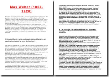 Max Weber (1864-1920): l'action sociale