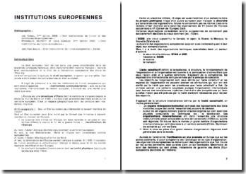 Cours de droit institutionnel de l'union européenne