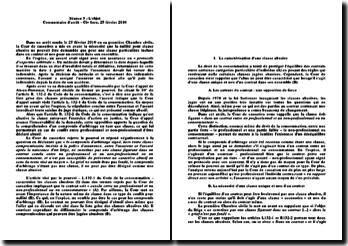 L'objet, Commentaire d'arrêt - Civ 1ere, 25 février 2010