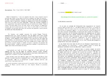 Le droit de vote Commentaire : Com. 18 juin 2002 n 98-21.967