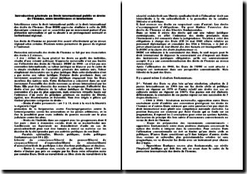 Introduction générale au Droit international public et droits de l'homme, entre interférences et interactions