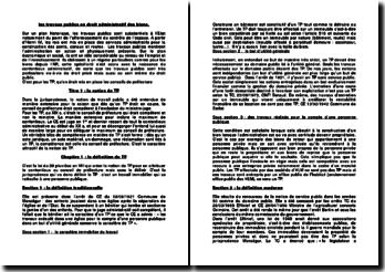 Notion de travaux publics en droit administratif des biens