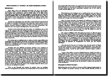 Michel Foucault et l'« invention » du régime disciplinaire scolaire
