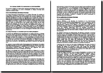 Les contrats relatifs à la construction en droit immobilier