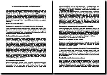 Les critères matériel et organique du domaine public en droit administratif