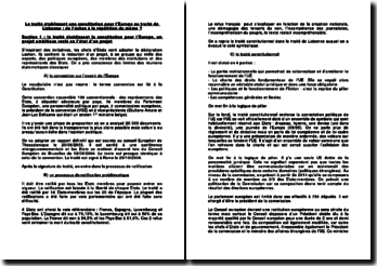 Le traité établissant une constitution pour l'Europe au traité de Lisbonne : de l'échec à la répétition du même ?