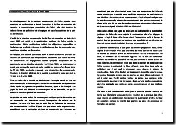 Commentaire d'arrêt, Cass. Com. 6 mars 1990