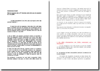Commentaire d'arrêt Arrêt de cassation de la 3ème chambre civile de la cour de cassation du 7 mai 2008