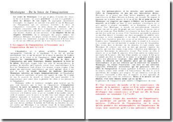 Montaigne - De la force de l'imagination, chapitre 20