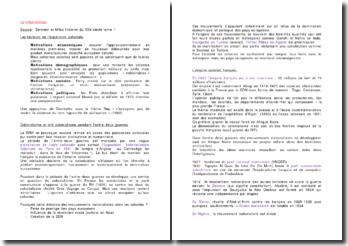 Le colonialisme, Source : Berstein et Milza Histoire du XXe siècle tome 1