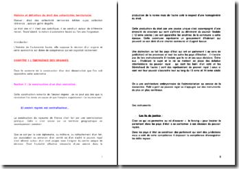 Histoire et définition du droit des collectivités territoriales