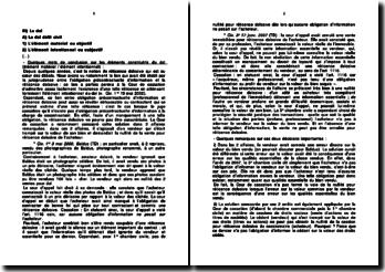 Le droit des contrats : le dol délit civil, la violence, la prévention, l'objet, la vente