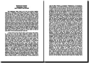 Commentaire littéraire: Britannicus - Racine, Acte II, Scène 3; vers 573-602