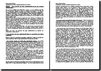 Les pouvoirs du juge administratif envers les contrats administratifs