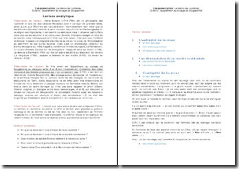 L'argumentation, Le siècle des Lumières, Supplément au voyage de Bougainville - Diderot