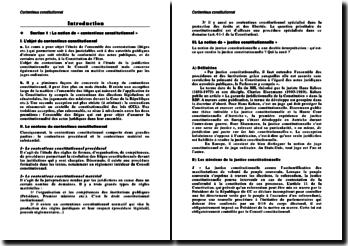 Notion de contentieux constitutionnel et légitimité de la justice constitutionnelle