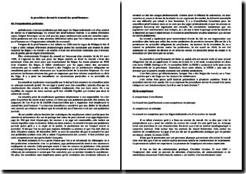 Organisation, compétence et procédure du conseil des prud'hommes