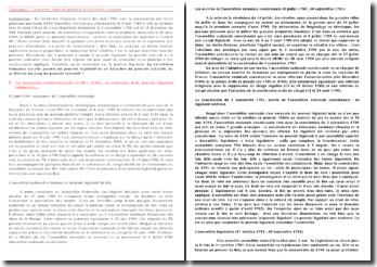Le pouvoir législatif pendant la Révolution française