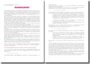 Le modèle de procédure en France et l'encadrement du modèle appliqué en procédure pénale française