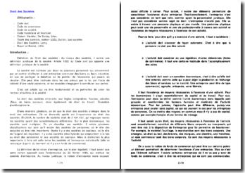 Les sources du droit des sociétés et l'organisation des sociétés