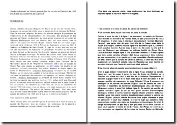 Quelles influences les canons exposés lors du concile de Clermont de 1095 ont-ils eue sur la réforme de l'Église ?