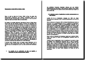 Commentaire d'arrêt (CE. 28 février 1992)