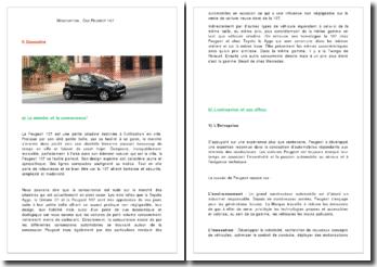 Négociation : Cas Peugeot 107