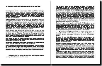 La Chronique - Histoire des Prophètes et des Rois(636) - Al Tabari