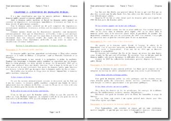 Les principaux composants juridiques et la fixation des limites du domaine public